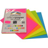 Rainbow Office Copy Paper A4 75gsm Fluoro Assorted Pack of 100