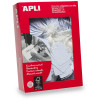 APLI 390 STRUNG TICKETS 22x35mm White Box of 500