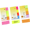 MARBIG RAINBOW PAGE MARKERS 20x50mm 160Sht Assorted Pack of 160