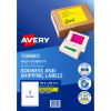 AVERY L7167FY LASER LABELS 1/Sht 199.6x289mm Fluoro Yello Pack of 25