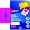 AVERY L7163FP LASER LABELS 14UP 99.1x38.1mm Fluoro Pink Pack of 25