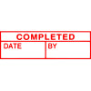 XStamper Stamp CX-BN 1542 Completed/Date/By Red