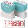 XSTAMPER STAMP CX-BN 1366 SUPERSEDED RED