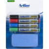 ARTLINE WHITEBOARD STARTER KIT 4 MARKERS +ERASER
