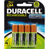 DURACELL RECHARGEABLE BATTERY AA Precharged - Pack of 4