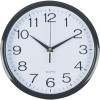 ITALPLAST 30CM WALL CLOCK Black Frame White Plastic Face