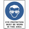 BRADY MANDATORY SIGN Eye Protection 450x600mm Metal