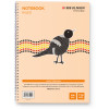 BIBBULMUN SPIRAL NOTEBOOK 7MM A4 120 Pages Side Bound Ruled