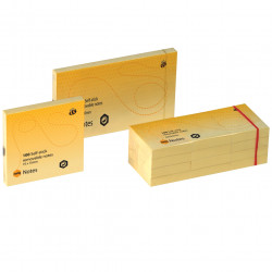MARBIG NOTES Repositional 40mm x 50mm Yellow Pack of 12