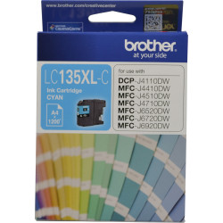 BROTHER INK CARTRIDGE LC-135XLC High Yield Cyan