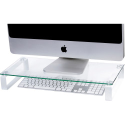 ESSELTE GLASS MONITOR STAND 60CM White Legs