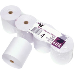VICTORY REGISTER ROLLS 76mm x 76mm x 11.5mm 2Ply Bond Pack of 4