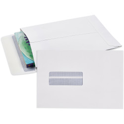 CUMBERLAND ENVELOPE EXPANDABLE 245mm x 162mm Strip Seal Window Face White Pack of 25