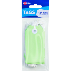 AVERY TAG-IT DURABLE TABS Shipping Tag Pastel Green Size 3 Pack of 24