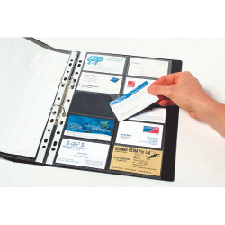 Marbig Business Card Pockets A4 Refills 20 Capacity Per Page Clear Pack Of 10