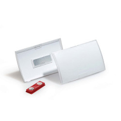 DURABLE CLICK FOLD NAME BADGE With Magnet - Box 10