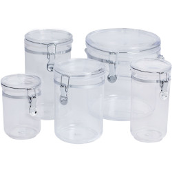 Connoisseur Acrylic Storage Canister Round 0.8 Litres