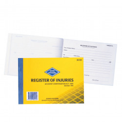 ZIONS ROID REG OF INJURIES BK Register Of Inj &First Aid Vic