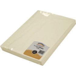 RAINBOW BULKY NEWSPRINT PAPER 380MM X 255MM 80GSM White 500 Sheets Pack