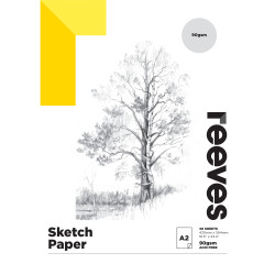 REEVES ARTIST SKETCH PAD A2 90GSM 30 Sheets