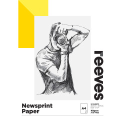 REEVES NEWSPRINT PAD A4 48GSM 50 Sheets